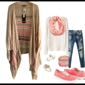 NWT 🌺 Point Zero knitted midi cardigan sweater 🌺